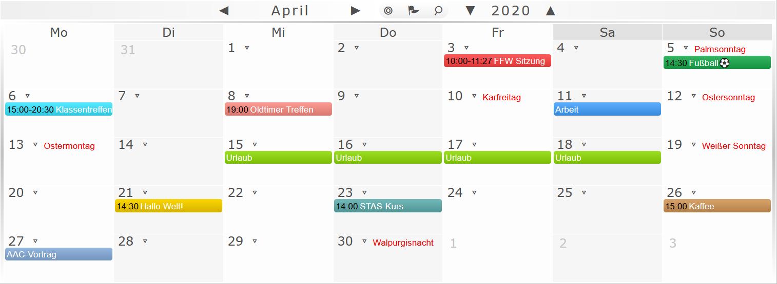 Event-Kalender