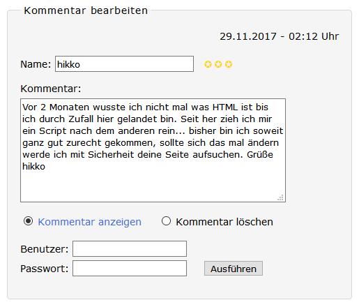 Kommentar Box Werner Zenk De